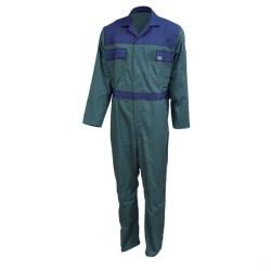 Combinaison de travail en coton - Vert / bleu