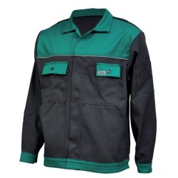 Veste de travail en coton - Anthracite / vert