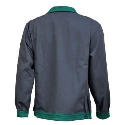 Veste de travail en coton - Gris / vert