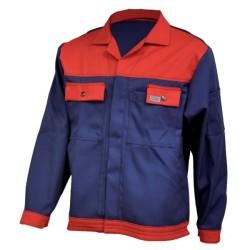 Veste de travail en coton - Bleu marine / rouge