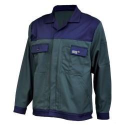 Veste de travail en coton - Vert / bleu