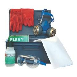Kit protection complet pour utilisateur de produits chimie / acide de batterie