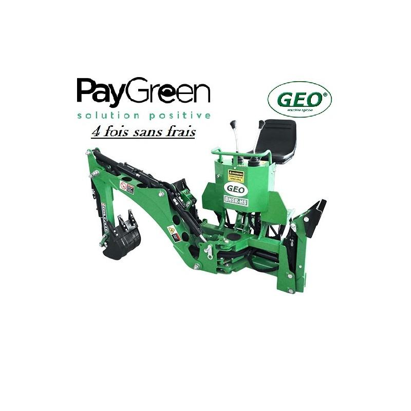 Pelle rétro pour micro tracteur