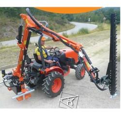 Tailleuse de haies 3 points pour tracteur mini 1100 kg