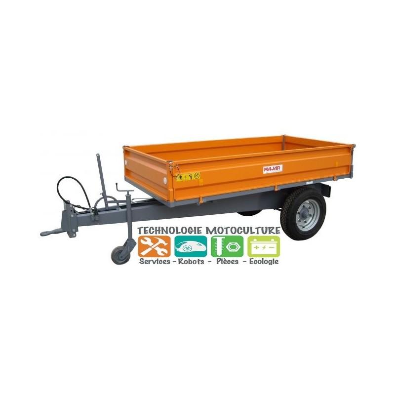 Remorque basculante Hydraulique Micro tracteur à ridelles C.U. 2.2 tonnes