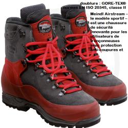 Chaussure anti-coupure MEINDL pour bucheron , sylviculture classe 2