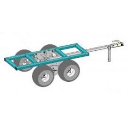 Châssis porteur double essieu MAJAR pour quad