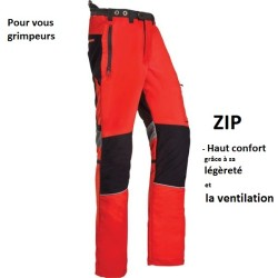 Pantalon ZIP PROTECTION de sécurité anti-coupure CLASSE 1 Visibilité optimale