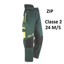 Pantalon ZIP PROTECTION de sécurité anti-coupure CLASSE 2 Très Confortable