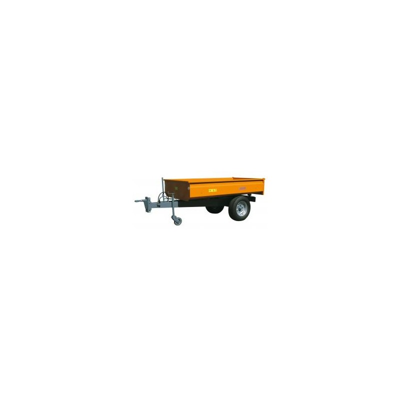 Remorque basculante Hydraulique Micro tracteur monocoque C.U. 1,4 tonnes