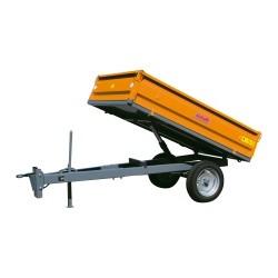 Remorque basculante Hydraulique Micro tracteur à ridelles C.U. 1 tonnes
