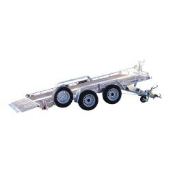 Remorque Plateau roues extérieures + Basculement HYDRAULIQUE +Treuil PTAC 2500 kg plateau 400 x 180 cm