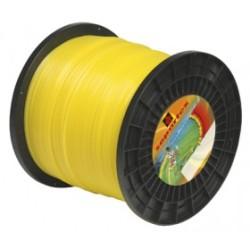 Fil nylon diam.: 3mm, section: arˆtes, couleur: jaune, bobine 335m