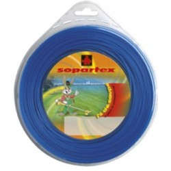 Fil nylon diam.: 1,65mm, section: arˆtes, couleur: bleu, mini spool 15m