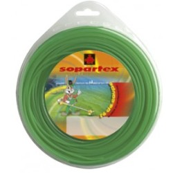 Fil nylon diam.: 2,4mm, section: arˆtes, couleur: vert, mini spool 15m