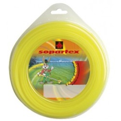 Fil nylon diam.: 3mm, section: arˆtes, couleur: jaune, mini spool 9m