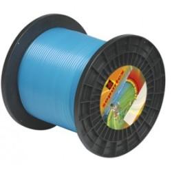 Fil nylon diam.: 4mm, section: ronde, couleur: bleu azur, bobine 100m