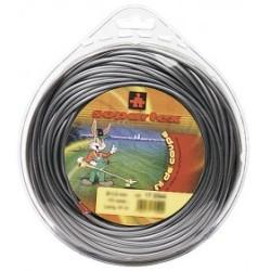 Fil nylon diam.: 3mm, section: hélicoïdale, couleur: gris, spool 56m