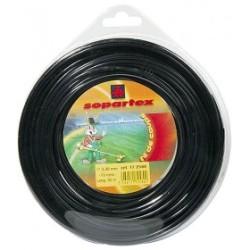 Fil nylon diam.: 3,3mm, section: ronde, couleur: noir, spool 50m