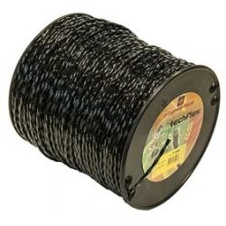 Fil nylon diam.: 4mm, section: carr' torsad', couleur: noir, Bobine 155m