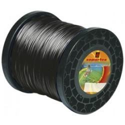 Fil nylon diam.: 4mm, section: cranté, couleur: noir, bobine 74m