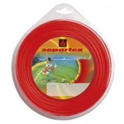 Fil nylon diam.: 3,5mm, section: ronde, couleur: rouge fluo, spool 40m