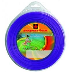 Fil nylon diam.: 2,7mm, section: ronde, couleur: violet, spool 80m