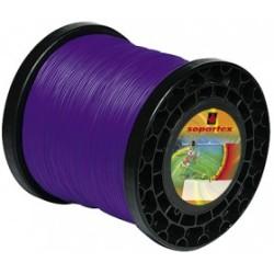Fil nylon diam.: 2,7mm, section: arêtes, couleur: violet, bobine 170m