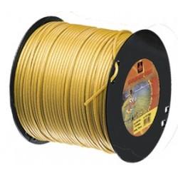Fil nylon diam.: 4mm, section: arˆtes, couleur: dor', bobine 75m