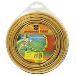 Fil nylon diam.: 4mm, section: arêtes, couleur: dor', spool 30m